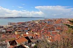 Lissabon, den huvud och största staden av Portugal Arkivbild