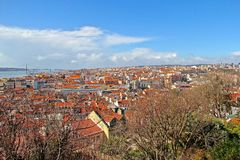 Lissabon, den huvud och största staden av Portugal Arkivbilder