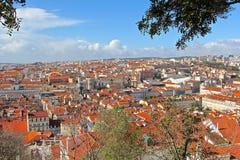 Lissabon, den huvud och största staden av Portugal Royaltyfria Foton