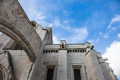 Lissabon - Detail van Klooster van Onze Dame van Onderstel Carmel Ruins Royalty-vrije Stock Afbeelding