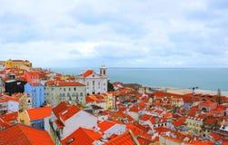 Lissabon dichtbij het overzees Stock Fotografie
