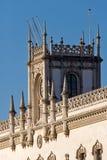 Lissabon, die Bahnhofsfassade Rossio Stockfotos