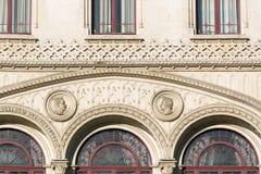 Lissabon, die Bahnhofsfassade Rossio Stockfotografie