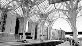 Lissabon drevstation Arkivfoto