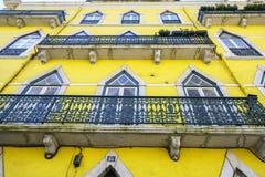 Lissabon fönster Fotografering för Bildbyråer