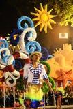 Lissabon festligheter - Carnide färger, den populära neighbourhooden ståtar Royaltyfri Fotografi