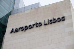 Lissabon flygplats Fotografering för Bildbyråer