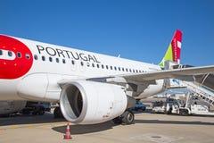 Lissabon flygplats Arkivbild