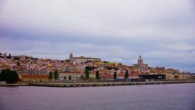 Lissabon från floden Tagus Arkivbild