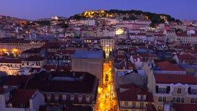 Lissabon från ovannämnda - den flyg- sikten över staden - LISSABON - PORTUGAL - JUNI 17, 2017 arkivfilmer