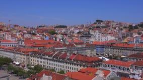 Lissabon från ovannämnda - den flyg- sikten över staden - LISSABON - PORTUGAL - JUNI 17, 2017 lager videofilmer