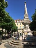 Lissabon fyrkant fotografering för bildbyråer