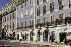 Lissabon gata Royaltyfri Fotografi