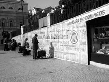 Lissabon gata Arkivfoto