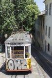 Lissabon-gelber Förderwagen Stockfotografie