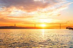 Lissabon-Hafen Stockfotos