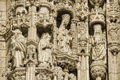 Lissabon - het Klooster van detailjeronimos Royalty-vrije Stock Afbeelding
