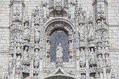 Lissabon - het Klooster van detailjeronimos Stock Afbeelding