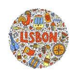 Lissabon illustration royaltyfri illustrationer
