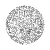 Lissabon illustration vektor illustrationer