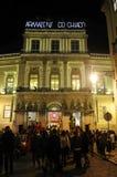 Lissabon jul, Xmas-ferier, Chiado som shoppar område, lopp Portugal, Europa Fotografering för Bildbyråer