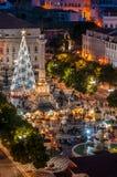 Lissabon in Kerstmistijd Stock Foto's