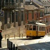 Lissabon-Laufkatze Lizenzfreie Stockfotografie