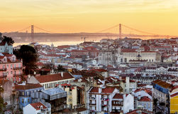Lissabon - Lissabon cityscape, Portugal Royaltyfria Foton