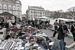 Lissabon marknad Fotografering för Bildbyråer