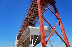 Lissabon, Marksteinsuspendierung 25 von April-Brücke Lizenzfreie Stockbilder