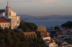 Lissabon mit Tejo Stockfotos