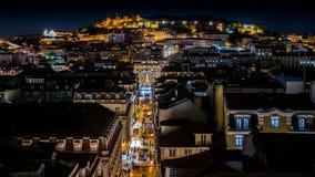 Lissabon natt royaltyfria bilder