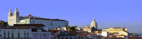Lissabon-Panorama Lizenzfreies Stockbild
