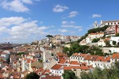 Lissabon-Panorama, Hauptstadt, Portugal Stockbilder