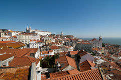 Lissabon panoramisch Lizenzfreie Stockfotos