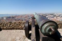 Lissabon panoramisch Stockbild