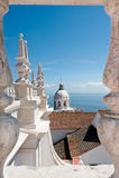 Lissabon, Pantheon vom Dach der Kirche Sao Vincente Des Lizenzfreies Stockbild
