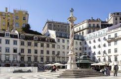 Lissabon-Pillory am städtischen Quadrat Stockfotos