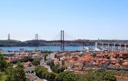 Lissabon, Portugal, 25. der April-Brücke Lizenzfreie Stockbilder