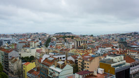Lissabon, Portugal, allgemeine Ansicht: das Schloss, die 7 Hügel und der Tajo Lizenzfreie Stockfotos