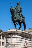Lissabon Portugal-April 12,2015: staty av konungen Joao I till Pracaen Royaltyfri Foto