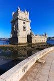 Lissabon, Portugal: De Toren van Belem. Royalty-vrije Stock Foto