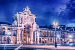 Lissabon, Portugal: der Sieges-Rua Augusta Arch, ACRO Triunfal DA Rua Augusta Lizenzfreie Stockfotografie