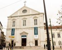 Lissabon, Portugal: Fassade von S Katholische Kirche Roque Stockfotografie