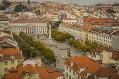 LISSABON/PORTUGAL - 17. FEBRUAR 2018: ANSICHT ÜBER LISSABON-STADT VON A stockbild
