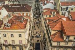 LISSABON/PORTUGAL - 17. FEBRUAR 2018: ANSICHT ÜBER LISSABON-STADT VON A stockbilder