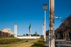 LISSABON PORTUGAL - Februari 02, 2011: Park'snamnet gavs i heder av Edward VII av Förenade kungariket Arkivbilder