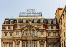 Lissabon, Portugal - 2019 Hotel Avenida-Palast 1892, nah an Bairro Alto- und Chiado-Teil des historischen Erbes der Stadt stockbild