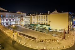 LISSABON, PORTUGAL - Januari 26, 2011: vierkante 'Duque DE Cadaval' dichtbij Rossio-Post Royalty-vrije Stock Afbeelding