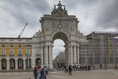 Lissabon, Portugal - 10. Juni 2018: Der Sieges-Rua Augusta Arch Lizenzfreie Stockbilder